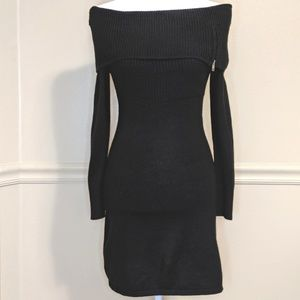 BCBGMaxAzria Bodycon Off-shoulder Sweater Dress